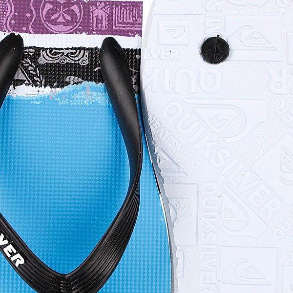 Шлепанцы Quiksilver Molokai Roam Black/White/Blue от BOARDRIDERS