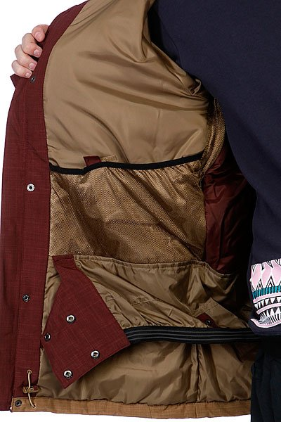 Куртка Quiksilver Decade 10K Jacket Rust от BOARDRIDERS