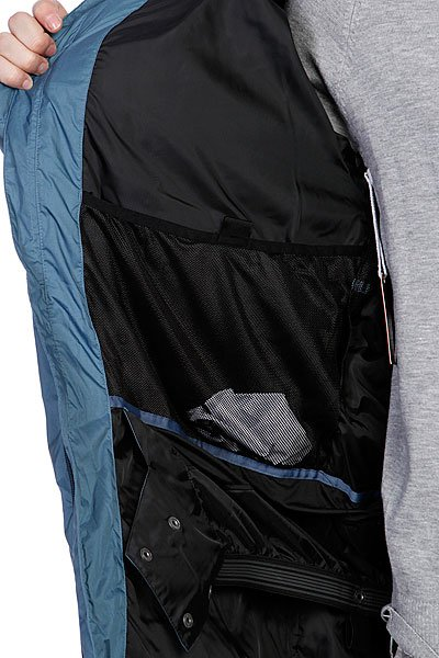 Куртка Quiksilver Sl/Fs Russia Down Shop Jkt Petrol Blue от BOARDRIDERS