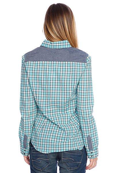 Рубашка в клетку женская Roxy Peachy Baltic Blue от BOARDRIDERS