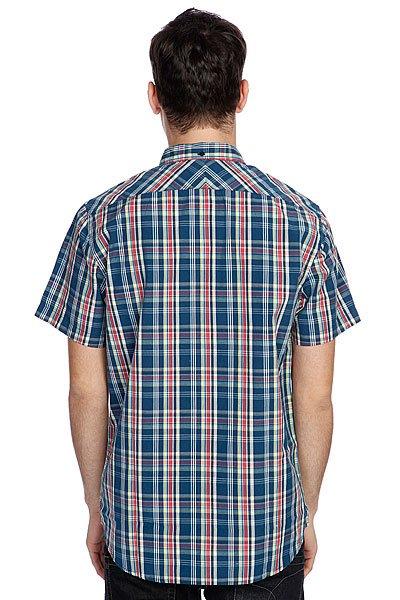 Рубашка в клетку Quiksilver Honky Tonk Ss Washed Navy от BOARDRIDERS