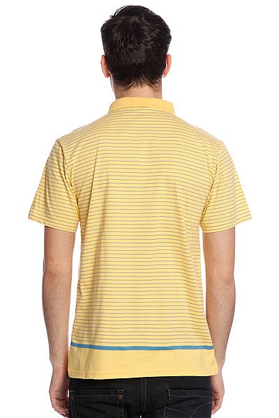 Поло Quiksilver Stripe Polo Msp Sunset Gold от BOARDRIDERS