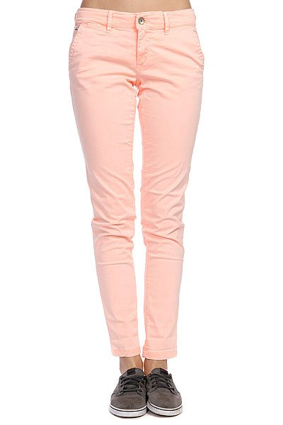 Штаны прямые женские Roxy Sunkissers Colors Peach OrangeБрюки<br><br><br>Размер EU: W27<br>Цвет: розовый<br>Тип: Штаны прямые<br>Возраст: Взрослый<br>Пол: Женский