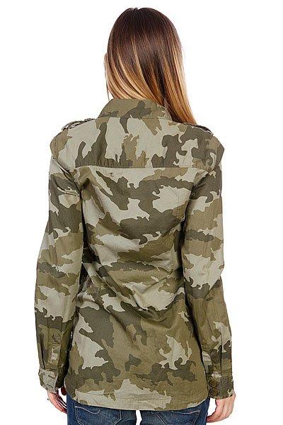 Рубашка женская Roxy Without Me Print Recruit Olive от BOARDRIDERS