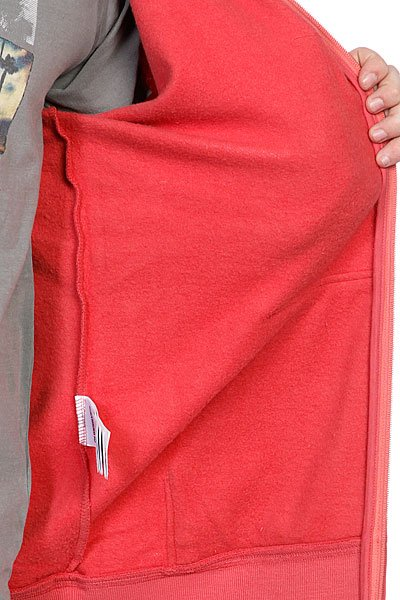 Толстовка Quiksilver Hood Zip Logo E1 Garnet Rose от BOARDRIDERS