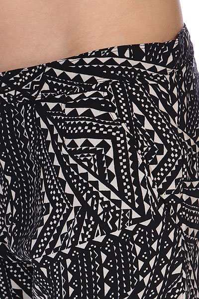 Штаны прямые женские Roxy Wax Flower True Black от BOARDRIDERS