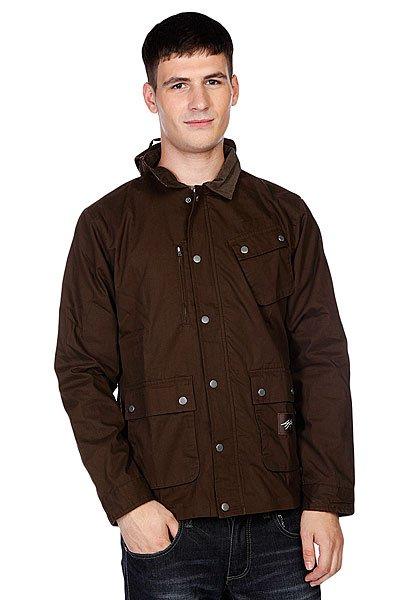 Куртка DC Jagger BlackwoodКуртки и Парки<br>Технические характеристики: Верх из 100% полиэстера. Внутренняя подкладка из тафты. Без дополнительного утепления (осень/весна).  Застежка – молния + кнопки по всей длине.  Съемный капюшон с утяжкой. Два накладных кармана для рук. Два накладных кармана на груди. Регулируемые манжеты.Внутренний потайной карман. Фасон: стандартный (regular fit).<br><br>Размер EU: S<br>Цвет: коричневый<br>Тип: Куртка<br>Возраст: Взрослый<br>Пол: Мужской