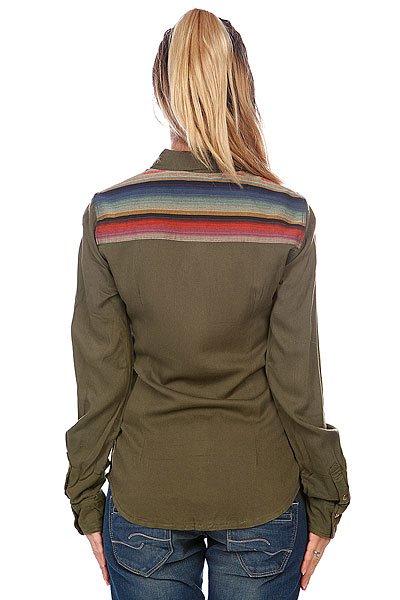 Рубашка женская Roxy Sunday River Recruit Olive от BOARDRIDERS