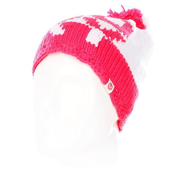 Шапка с помпоном женская Roxy Fjord Beanie Bright WhiteШапки<br><br><br>Размер EU: One Size<br>Цвет: красный,белый<br>Тип: Шапка<br>Возраст: Взрослый<br>Пол: Женский
