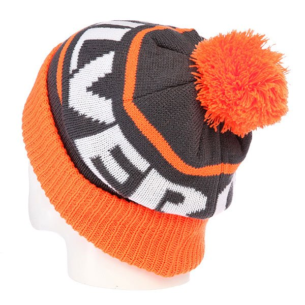 Шапка с помпоном детская Quiksilver Summit Youth Beanie Shocking Orange от BOARDRIDERS