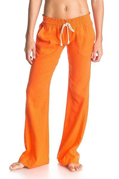 Штаны широкие женские Roxy Oceanside Pant J PersimmonБрюки<br><br><br>Размер EU: S<br>Цвет: оранжевый<br>Тип: Штаны спортивные<br>Возраст: Взрослый<br>Пол: Женский
