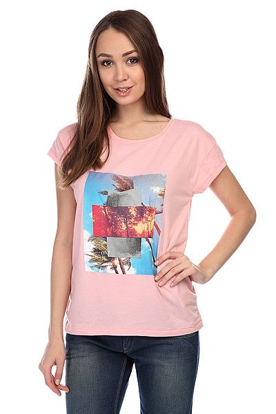 Футболка женская Roxy Newcrewb J Tees Bloom Pink от BOARDRIDERS