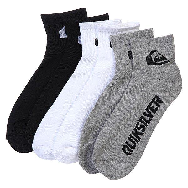 Носки средние Quiksilver 3pk Bold Logo MultiНижнее белье<br><br><br>Размер EU: 40-45<br>Цвет: серый,белый,черный<br>Тип: Комплект носков<br>Возраст: Взрослый<br>Пол: Мужской