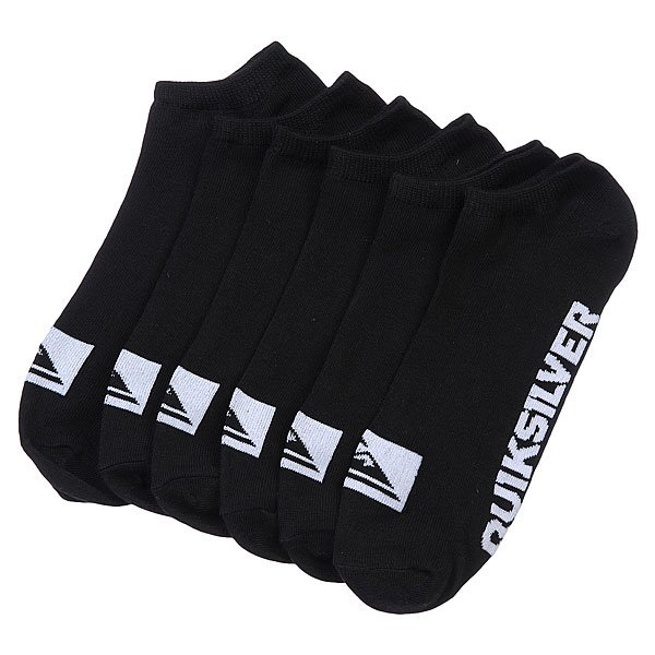Носки низкие Quiksilver 3pk Bold Logo BlackНоски<br><br><br>Размер EU: 40-45<br>Цвет: черный,белый<br>Тип: Комплект носков<br>Возраст: Взрослый<br>Пол: Мужской