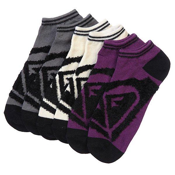 Носки низкие женские Roxy 3pk Junior Insde Spark Logo Ns MultiНоски<br><br><br>Размер EU: 36-41<br>Цвет: бежевый,серый,фиолетовый<br>Тип: Комплект носков<br>Возраст: Взрослый<br>Пол: Женский