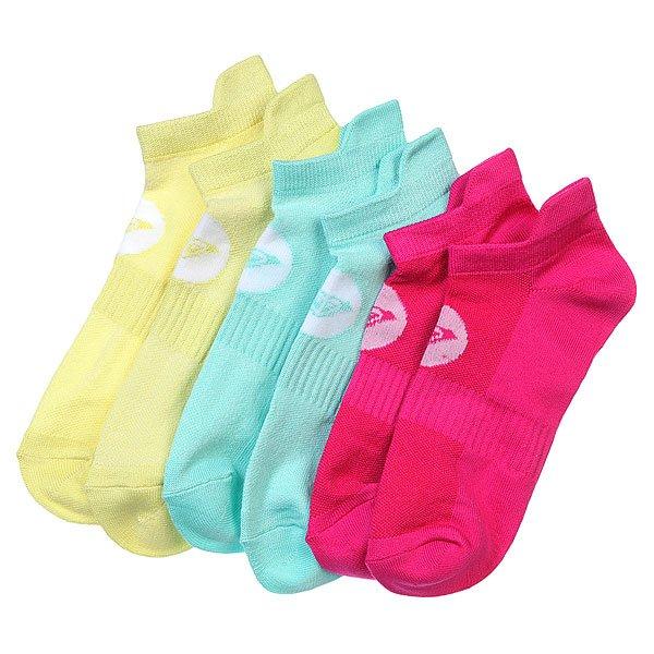 Носки низкие женские Roxy 3pk Marled Sole Lc MultiНоски<br><br><br>Размер EU: 36-41<br>Цвет: розовый,голубой,желтый<br>Тип: Комплект носков<br>Возраст: Взрослый<br>Пол: Женский