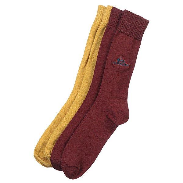 Носки высокие Quiksilver 2pk Heathered Yarn Crew Bright MixНижнее белье<br><br><br>Размер EU: 40-45<br>Цвет: коричневый,желтый<br>Тип: Комплект носков<br>Возраст: Взрослый<br>Пол: Мужской