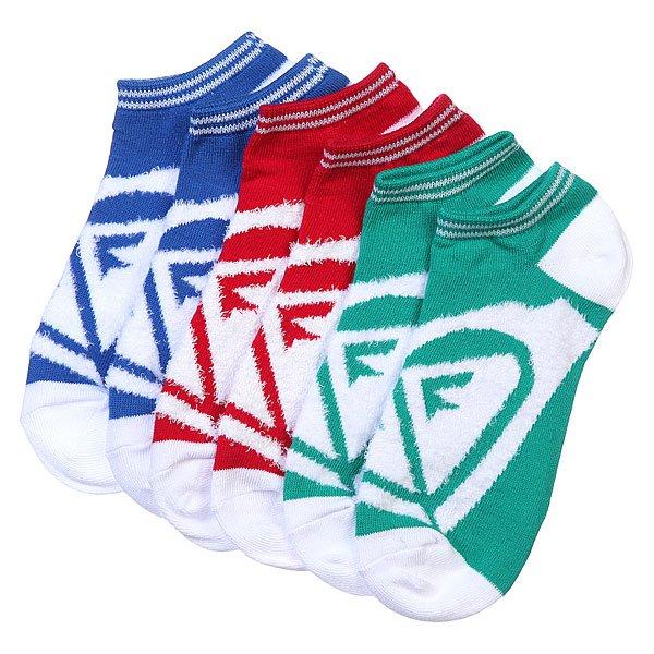 Носки низкие женские Roxy 3pk Junior Insde Spark Logo Ns Blatic Blue