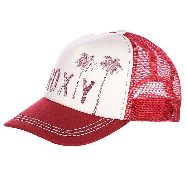 Бейсболка женская Roxy Truckin Hats Deep RedБейсболки<br><br><br>Размер EU: One Size<br>Цвет: красный,белый<br>Тип: Бейсболка с сеткой<br>Возраст: Взрослый<br>Пол: Женский