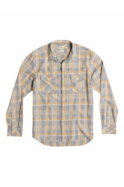 Рубашка в клетку Quiksilver Tang Titan FlinstoneРубашки<br><br><br>Размер EU: M<br>Размер EU: L<br>Цвет: серый,желтый<br>Тип: Рубашка в клетку<br>Возраст: Взрослый<br>Пол: Мужской