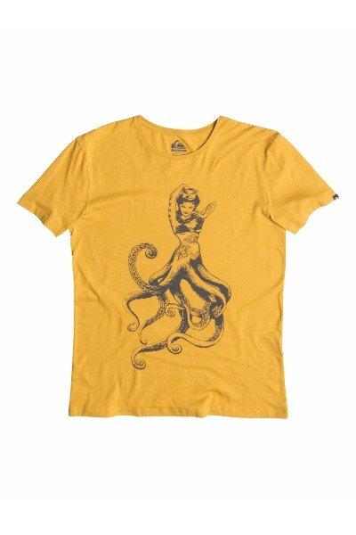 Футболка Quiksilver Orgteeoctopussy Golden SpiceФутболки и Майки<br>Дополните свой образ футболкой из органического хлопка, плотностью 140 грамм! Модель с округлым вырезом горловины, короткими рукавами. Оригинальный крой, эффектный принт &amp;ndash; порадуют<br><br>Размер EU: M<br>Цвет: желтый<br>Тип: Футболка<br>Возраст: Взрослый<br>Пол: Мужской