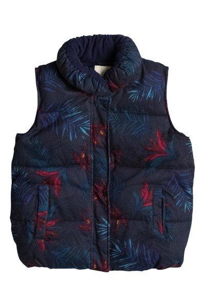 Жилет женский Roxy Daydreamer Vest J Jckt Midnight Palm OptionКуртки и Парки<br>Флисовый жилет с утеплителем - отличное решение для прогулок!  Подкладка из тонкого флиса. Бледный принт с гавайскими пальмами. Жилет застегивается на переднюю металлическую молнию.<br><br>Размер EU: M<br>Размер EU: XS<br>Размер EU: S<br>Размер EU: L<br>Цвет: синий<br>Тип: Жилетка<br>Возраст: Взрослый<br>Пол: Женский