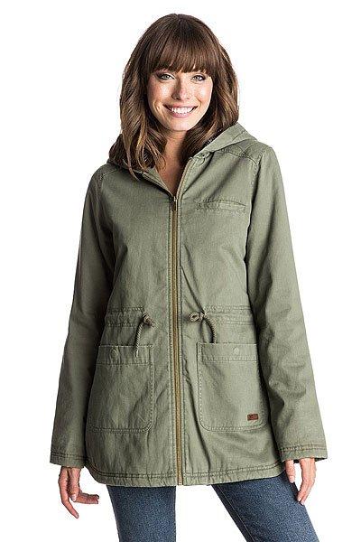 Куртка парка женская Roxy Primo Parka J Jckt Dusty OliveКуртки и Парки<br>Утепленная куртка в стиле парки - идеальное сочетание комфорта и качества! Особенности:   Уплотненный дизайн.  Подкладка в полоску.  Застегивается на молнию.  Отделка контрастной бейкой.  Тесьма в горошек вдоль воротника.<br><br>Размер EU: XL<br>Цвет: зеленый<br>Тип: Куртка парка<br>Возраст: Взрослый<br>Пол: Женский