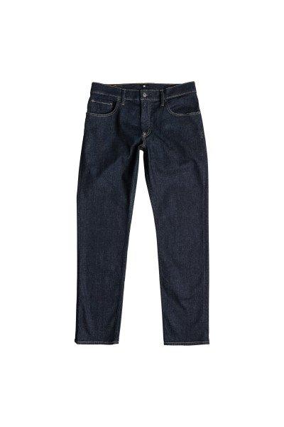 Джинсы широкие DC Worker Indigo RinseДжинсы<br>Эти джинсы отлично сочетают комфорт и качество!  Материал - деним синего цвета плотностью 340 г/кв. м:   Cвободный крой.  Застегиваются на пуговицы.  Металлические заклепки.  Перфорированная кожаная нашивка на поясе сзади.  Логотип DC на заднем кармане.  Кокетка &amp;laquo;наоборот&amp;raquo; сзади.  Декоративная строчка на коленях.<br><br>Размер EU: W32<br>Размер EU: W30<br>Цвет: синий<br>Тип: Джинсы широкие<br>Возраст: Взрослый<br>Пол: Мужской