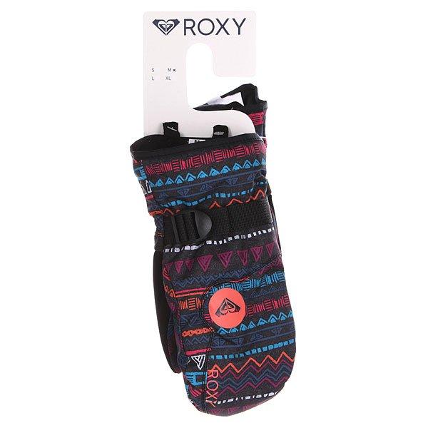Варежки сноубордические детские Roxy Jetty Girl Mitt Geo Stripe от BOARDRIDERS