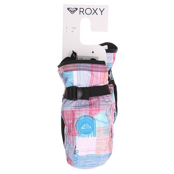 Варежки сноубордические детские Roxy Jetty Girl Mitt Plaid Lines от BOARDRIDERS