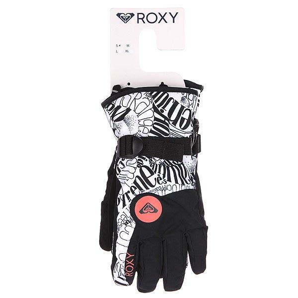 Перчатки сноубордические женские Roxy Jetty Gloves Typoswirl bright White от BOARDRIDERS