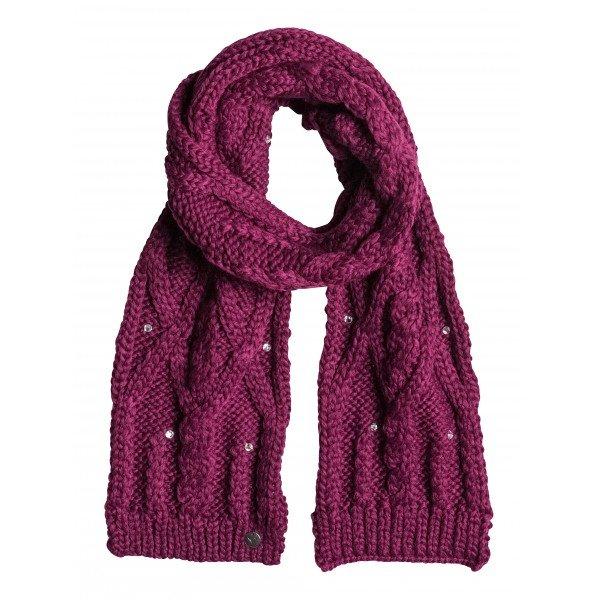 Шарф женский Roxy Shooting Star Magenta PurpleШарфы<br>Именно этот шарф обеспечит прекрасную защиту в холодное время года!  Преимущество:    Крупная структурная акриловая вязка.  Декоративные стразы.  Мягкая фактура ткани.  Стандартный размер подойдет всем.<br><br>Размер EU: One Size<br>Цвет: фиолетовый<br>Тип: Шарф<br>Возраст: Взрослый<br>Пол: Женский