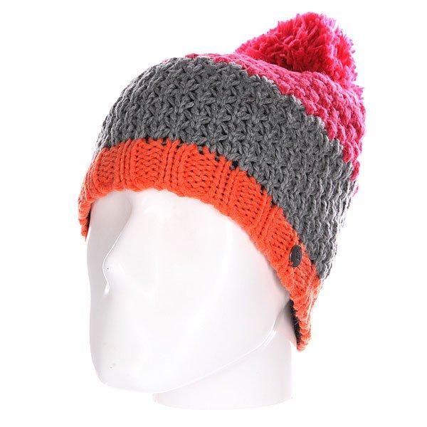 Шапка женская Roxy From The Block Heritage HeatherШапки<br><br><br>Размер EU: One Size<br>Цвет: розовый,серый,оранжевый<br>Тип: Шапка<br>Возраст: Взрослый<br>Пол: Женский