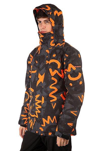Куртка Quiksilver Mission Print Cave Rave Black от BOARDRIDERS