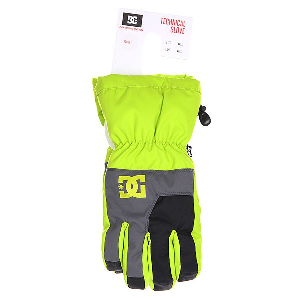 Перчатки сноубордические детские DC Seger Boy Glove Lime Punch от BOARDRIDERS