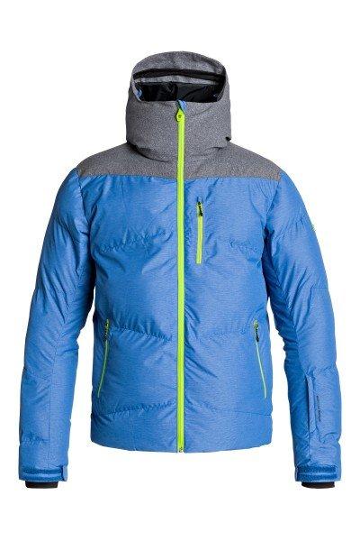Куртка Quiksilver Ultimate Jacket Olympian BlueСноубординг<br>Куртка Quiksilver Ultimate Jacket из коллекции Snow Performance идеально подходит как для покорения вершин, так и для повседневной жизни. Современный утеплитель 3M™ Thinsulate™ FEATHERLESS  обеспечит тепло и комфортное катание в течении всего дня.  Можете быть уверены что снег, ветер и непогода не помешают Вам получить максимум удовольствия от катания.   Технические характеристики: Утеплитель - 3M™ Thinsulate™ FEATHERLESS 300 г.Подкладка - ультралегкая тафта и мелкая сетка.Водонепроницаемая мембрана Dry Flight 15K(15 000 мм/15 000г).Проклеенные швы.Высокий воротник-стойка.Сеточная вентиляция.Фиксированный капюшон.Система крепления штанов к куртке.Защита подбородка от натирания молнией из микрофибры.Врезной нагрудный карман на молнии.Два боковых кармана на молнии.Медиакарман.Карман для скипасса.Карман для маски.Отстегивающаяся противоснежная юбка из синтетической тафты с эластичной вставкой из лайкры.Регулируемые манжеты на липучках.Лайкровые манжеты с отверстием для большого пальца.Подол с утяжкой.Застежка - молния+липучки.Молнии YKK® Aquaguard®.Фасон: стандартный (regular fit).<br><br>Размер EU: L<br>Размер EU: S<br>Цвет: синий,серый<br>Тип: Куртка утепленная<br>Возраст: Взрослый<br>Пол: Мужской