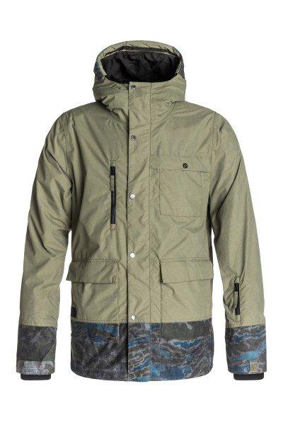 Куртка Quiksilver Sense Jkt Dusty OliveКуртки<br>Куртка Quiksilver Sense, в которой уровень тепла сравним с пуховиком, но без лишнего объема. Это стало возможным благодаря эффективному утеплителю 3M™ Thinsulate™ Type M. Дышащий, но очень надежный утеплитель для самых суровых погодных условий. Коллекция Snow Modern Originals.  <br>Технические характеристики: Утеплитель - 3M™ Thinsulate™ Type M.Подкладка - влаговыводящая тафта и технологичный материал dobby.Водонепроницаемая мембрана Dry Flight 15K(15 000 мм/15 000г).Полностью проклеенные швы.Высокий воротник-стойка.Сеточная вентиляция.Фиксированный капюшон с регулировкой.Система крепления штанов к куртке.Защита подбородка от натирания молнией из микрофибры.Нагрудный карман на кнопке.Два боковых кармана на липучках.Медиакарман.Карман для скипасса.Карман для маски с тканью для протирания фильтра.Фиксированная противоснежная юбка из синтетической тафты с эластичной вставкой из лайкры.Регулируемые манжеты на липучках.Лайкровые манжеты с отверстием для большого пальца.Подол с утяжкой.Застежка - молния+кнопки.Фасон: стандартный (regular fit).<br><br>Размер EU: S<br>Размер EU: M<br>Размер EU: L<br>Цвет: зеленый<br>Тип: Куртка утепленная<br>Возраст: Взрослый<br>Пол: Мужской
