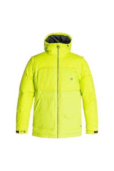 Куртка DC Downhill Lime PunchСноубординг<br>DC Downhill создана для морозных деньков и хорошего настроения, потому что надев ее даже при самых низких температурах Вы будете чувствовать комфорт и уют благодаря пуховому утеплителю в сочетании с влагостойкой тканью Exotex 10K. Вместительные карманы для рук и удобные внутренние карманы позволят захватить с собой на склон все необходимые мелочи, а снегозащитная юбка в сочетании с лайкровыми манжетами не позволит снегу проникнуть под крутку.  Технические характеристики: Утеплитель - пух Hybrid Down.Подкладка - тафта.Водонепроницаемая мембрана Exotex 10K(10 000 мм/10 000 г).Фиксированный капюшон с регулировкой.Высокий воротник - стойка.Два боковых кармана.Фиксированная снежная юбка.Внутренний сетчатый карман.Карман для медиа.Карман для ски-пасса.Регулируемые манжеты на липучках.Лайкровые манжеты с отверстием для большого пальца.Регулируемый подол на резинке.Застежка - молния.Фасон: стандартный (regular fit).<br><br>Размер EU: M<br>Размер EU: L<br>Цвет: зеленый<br>Тип: Куртка утепленная<br>Возраст: Взрослый<br>Пол: Мужской