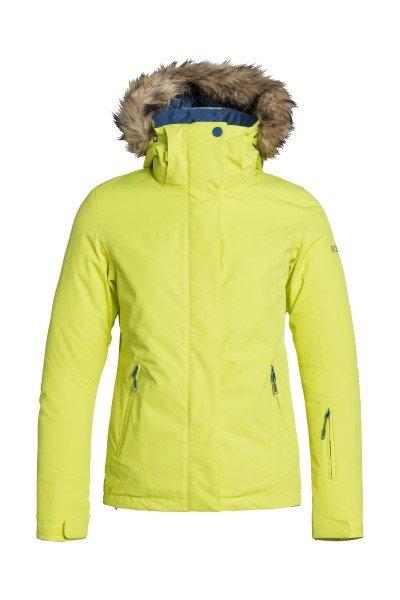 Куртка женская Roxy Jet Ski Sold Jk LimeadeСноубординг<br>Куртка Roxy Jet Ski позаботится о том, чтобы Вы оставались в тепле, сухости и комфорте на протяжении всего дня катания в любых погодных условиях и всегда наслаждались приятным катанием. Дышащая мембранная ткань Dry Flight 10К и проклеенные критические швы не допустят промокания, внутренние эластичные манжеты и снегозащитная юбка защитят от попадания снега под одежду, а 280 г утеплителя и трикотажная подкладка с начесом обеспечат тепло и уют. Характеристики:Водостойкая и дышащая мембранная ткань Dry Flight 10К (10 000 мм /10 000 г). Утеплитель 120 г тело, 100 г рукава, 60 г капюшон. Подкладка из тафты и трикотажа с начесом. Зауженный крой SlimFit. Проклеенные критические швы. Съемный капюшон регулируется в трех направлениях.  Снегозащитная юбка. Система крепления куртки к штанам. Клипса для ключей. Медиа-карман. Внутренний карман для маски. Карманы для рук на молнии. Внутренние эластичные манжеты из лайкры с отверстиями для больших пальцев. Карман для ски-пасса на рукаве. Карманы для вентиляции на молнии.<br><br>Размер EU: XL<br>Цвет: желтый<br>Тип: Куртка утепленная<br>Возраст: Взрослый<br>Пол: Женский