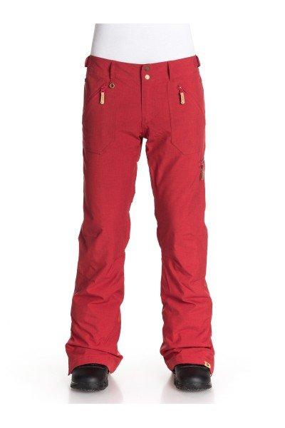 Штаны сноубордические женские Roxy Nadia Pt J Snpt Pompeian RedШтаны<br>Яркие цвета, качественное исполнение, надежные материалы – сноубордические штаны Roxy Nadia имеют все необходимые характеристики, чтобы стать самым любимым предметом Вашей экипировки. Чтобы снежные дни казались для Вас бесконечными, специалисты Roxy используют водостойкий и дышащий материал Dry Flight 10K, который защитит Вас от снега, влаги и ветра. А согреть и обеспечить комфорт поможет качественный синтетический утеплитель, благодаря которому Вы сможете беззаботно кататься на склонах с начала открытия парка и до его закрытия. Характеристики:Водостойкая и дышащая мембрана Dry Flight 10K.Утеплитель 40 г. Подкладка из тафты.Приталенный крой. Швы проклеены в критических местах. Регулируемая талия.Система прикрепления куртки к штанам. Система фиксации длины штанин для защиты от грязи и истирания. Края штанин на кнопке. Сетчатые карманы для вентиляции.Снегозащитные гетры из тафты. 5 карманов для удобного размещения мелочей. Кольцо для ски-пасса. Коллекция Treeline.<br><br>Размер EU: L<br>Цвет: бордовый<br>Тип: Штаны сноубордические<br>Возраст: Взрослый<br>Пол: Женский