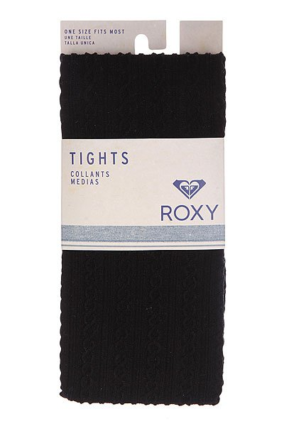 Колготки женские Roxy Footed Opaque Cable Tights True Black от BOARDRIDERS