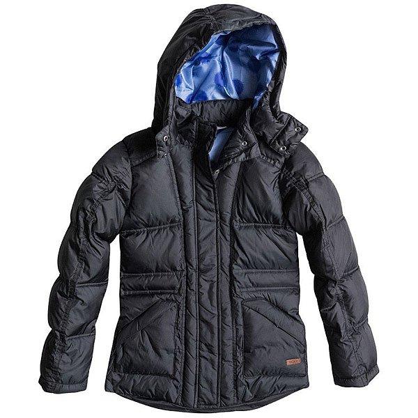 Куртка зимняя детская Roxy Free Style G Jacket True BlackОдежда<br>Стильная городскаякурткас удобными вместительными передними карманами и съемным капюшоном. Этакурткасоздана для удобства и комфорта в городской среде и отлично впишется в повседневный гардероб.Характеристики:Мягкая подкладка.Съемный капюшон.Два передних кармана для рук. Приталенный крой.<br><br>Размер EU: 16yrs<br>Цвет: черный<br>Тип: Куртка зимняя<br>Возраст: Детский