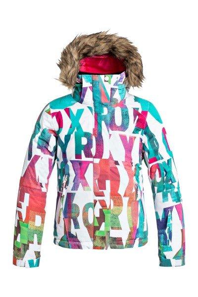 Куртка утепленная детская Roxy Jet Ski Girl Jk G Snjt Mazzy Rx Bright White