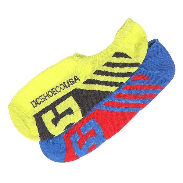 Носки низкие DC 2pk Sneakers Sole Socks NeonНижнее белье<br><br><br>Размер EU: 40-45<br>Цвет: желтый,синий,красный,черный<br>Тип: Комплект носков<br>Возраст: Взрослый<br>Пол: Мужской