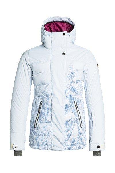 Куртка  женская Roxy Tb Cryst Pr Jk Winter ForestСноубординг<br>Команда профессионалов Roxy совместно со всеми любимой сноубордисткой Торой Брайт плодотворно поработала над созданием куртки Crystalized, оснащая ее лучшими технологическими характеристиками и уникальным дизайном. Если Вам важен максимальный комфорт на склоне и гарантированная защита от снега, ветра и влаги, то про-модель Торы Брайт окажется удачным выбором. Куртка выполнена из водонепроницаемого мембранного материала Dry Flight 15К, который также обладает отличными дышащими свойствами, а согреться в сильный мороз поможет утеплитель 3M™ Thinsulate™ с пуховой набивкой. Приятная подкладка из тафты, высокий ворот, влагостойкая молния YKK® и множество карманов для Ваших мелочей окажутся дополнительными необходимыми бонусами.Характеристики:Водонепроницаемый мембранный материал Dry Flight 15К (15 000 мм / 15 000 г) с отличными дышащими свойствами. Утеплитель: 3M™ Thinsulate™ пуховая набивка 350 г/600 fill power + Type M (100 г тело, капюшон, рукава). Ультра-легкая подкладка из тафты. Приталенный силуэт. Швы проклеены в критических местах. Регулировка капюшона в трех направлениях. Отстегивающаяся снегозащитная юбка.Система прикрепления куртки к штанам. Влагостойкая молния YKK®.Защита подбородка от натирания. Гейтор ENJOY &amp; CARE. Клипса для ключей. Внутренний нагрудный карман на молнии. Медиа-карман. Внутренний карман для маски. Карманы для рук на молнии. Карман для ски-пасса на рукаве. Внутренние эластичные манжеты с отверстием для большого пальца. Регулируемые манжеты на липучке. Вентиляции с сетчатой подкладкой. Ткань для протирки оптики. Коллекция Mountain Life.<br><br>Размер EU: M<br>Размер EU: XL<br>Размер EU: L<br>Размер EU: S<br>Цвет: белый<br>Тип: Куртка утепленная<br>Возраст: Взрослый<br>Пол: Женский