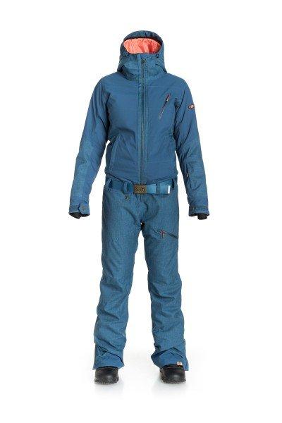 Комбинезон сноубордический женский Roxy Impression Suit Ensign BlueСноубординг<br>Комбинезон Roxy Impression идеально подойдет для тех девушек, которые готовы проводить большую часть свободного времени, самозабвенно чертя линии на снежных склонах или утопая в пухлом снеге. Безусловно, комплекткурткаплюс штаны со снегозащитной юбкой и системой прикреплениякурткик штанам избавят Вас от проблем со снегом, однако комбинезон является более эффективным средством и дает 100% гарантию, что ни влага, ни снег, ни ветер не заберутся предательски Вам в спину. К тому же, Roxy Impression выполнен из водостойкого мембранного материала Dry Flight 10K и имеет отличные дышащие свойства, в своем составе он содержит утеплитель 3M™ Thinsulate™ Type M, который обеспечит Вам тепло и комфорт даже в самые снежные зимние дни.Характеристики:Водостойкая и дышащая мембрана Dry Flight 10K. Утеплитель: 3M™ Thinsulate™ Type M (тело 100 г / рукава 80 г / капюшон 60 г / штаны 40 г). Подкладка из тафты и трикотажа с начесом. Приталенный крой. Регулировка капюшона в трех направлениях. Высокий воротник с микрофиброй для защиты подбородка. Медиа-карман для плеера. Внутренний карман для маски.Внутренние эластичные манжеты из лайкры с отверстиями для больших пальцев.Регулируемые манжеты на липучке. Карман на молнии для ски-пасса на рукаве.Вентиляции с сетчатой подкладкой. Теплые карманы для рук с клипсой для ключей.Съемный ремень. Система фиксации длины штанин для защиты от грязи и истирания. Края штанин на молнии. Уплотненный материал нижней части штанин.Кольцо для ски-пасса. Коллекция Mountain Life.<br><br>Размер EU: XS<br>Цвет: синий<br>Тип: Комбинезон сноубордический<br>Возраст: Взрослый<br>Пол: Женский