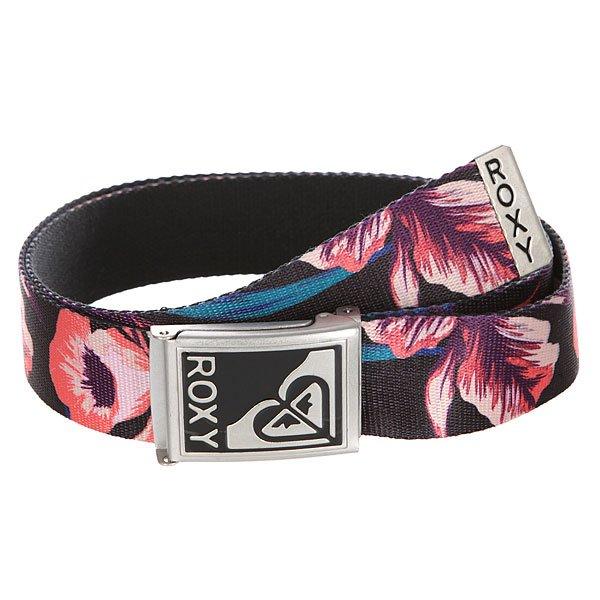 Ремень женский Roxy Surfing Spot True Black Maui LighРемни<br>Изящный ремень с цветочным принтом Surfing Spot от ROXY.Технические характеристики: Плетеный ремень с цветочным принтом.Металлическая застежка-роллер.Эмалированный логотип ROXY с сердечком на пряжке.Металлический наконечник.<br><br>Размер EU: One Size<br>Цвет: черный,мультиколор<br>Тип: Ремень<br>Возраст: Взрослый<br>Пол: Женский