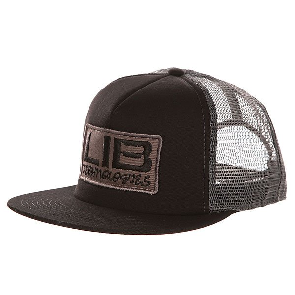 Бейсболка с сеткой Lib Tech Full Service Trucker Black