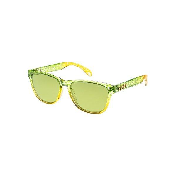 очки женские Roxy Uma Green/Flash GreenСолнцезащитные очки<br>Стильные очки для стильных леди.Характеристики:Оправа из гриламида.Оптически корректные поликарбонатные линзы.6-тислойное покрытие против царапин.3 категория защиты линз от очень ярких солнечных лучей. 100% защиты от УФ-лучей (UV A, UVB). Оправа среднего размера. Мягкая защитная сумочка в комплекте.<br><br>Размер EU: One Size<br>Цвет: зеленый,желтый<br>Тип: Очки<br>Возраст: Взрослый<br>Пол: Женский