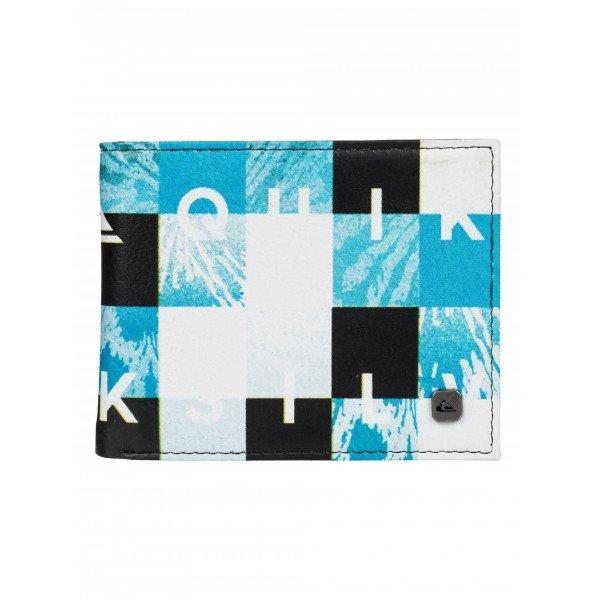 Кошелек Quiksilver Freshness Hawaiian OceanКошельки<br>Оригинальный кошелёк из полиуретана с принтом в стиле классических бордшорт. Внутри - все необходимые отделения для купюр, монет и пластиковых карт.Характеристики:Отделения для пластиковых карт.Отделение на молнии для мелочи. Бордшорт-принт. Сетчатое ID-окошко.Печатный внутренний логотип.<br><br>Размер EU: L<br>Цвет: черный,голубой,белый<br>Тип: Кошелек<br>Возраст: Взрослый<br>Пол: Мужской